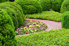 Formal garden at spring Royalty Free Stock Photography
