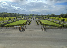 Formal garden in Stockholm Drottningholm. Stock Photos