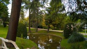 Formal garden. Garden of yildiz palace in Istanbul,Turkey Stock Photo