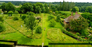 Formal gardens. Of Sissinghurst Castle Kent United Kingdom stock images
