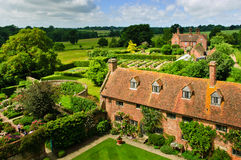 Formal gardens. Of Sissinghurst Castle Royalty Free Stock Photos