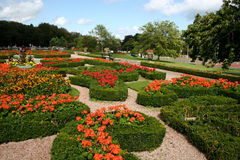 Formal gardens. With cultured hedges and flower beds Royalty Free Stock Images