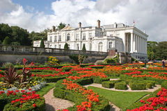 Formal gardens. With cultured hedges and flower beds Stock Photos