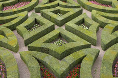 Formal gardens at chateau, de, villandry, loire, valley, france. Horizontal royalty free stock image