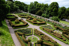 Formal gardens at Chillingham Castle Royalty Free Stock Image