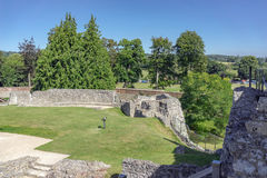 The formal gardens of Farnham Castle in Surrey Stock Images