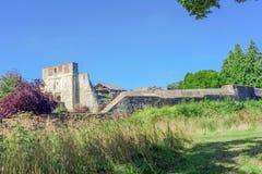 The formal gardens of Farnham Castle in Surrey Royalty Free Stock Image
