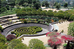 Formal gardens at The Getty Center - Los Angeles Royalty Free Stock Photography