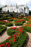 Formal gardens and historic house. Formal gardens looking towards oldway mansion Stock Image