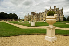 Formal gardento an Elizabethan design. A beautiful formal garden of this Elizabethan mansion royalty free stock image