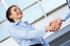 Formal handshake Royalty Free Stock Photos