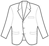 Formal Jacket. An image of a formal jacket / coat Royalty Free Stock Photo