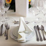 Formal ltable setting Royalty Free Stock Photos