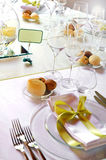 Formal luxury table setting for a catered event Royalty Free Stock Photography