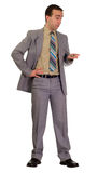 Formal Man Patiently Waiting Royalty Free Stock Image