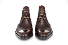 Formal man shoes. Image is posed on white background Royalty Free Stock Photography
