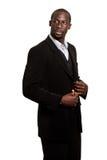 Formal Man on White Stock Images