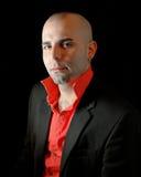 Formal masculino no preto Foto de Stock