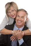 Formal mature couple. Formal couple posing together on white isolated background Stock Images