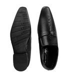 Formal Men's Black Leather Shoe on White Background Stock Images