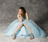 Formal party dress. Teenage girl wearing prom dress Stock Image