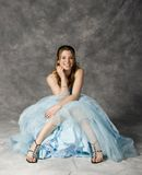 Formal party dress. Teenage girl wearing prom dress Royalty Free Stock Photo