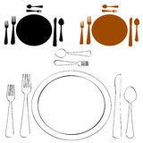 Formal Place Setting. An image of a formal place setting Stock Photography