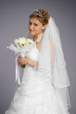 Formal portrait of beautiful bride Stock Photo