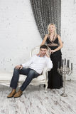 Formal portrait of a couple. Formal portrait of a young couple Royalty Free Stock Photos
