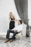 Formal portrait of a couple. Formal portrait of a young couple Stock Images