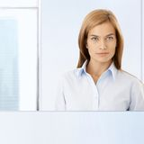 Formal portrait of smart woman Stock Photos