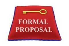 Formal Proposal concept Royalty Free Stock Image