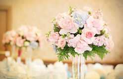 Formal reception hall flowers Stock Photo
