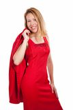 Formal red dress Stock Image