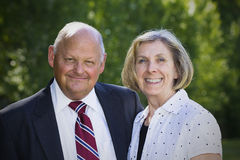 Formal Senior Couple Portrait Stock Photo