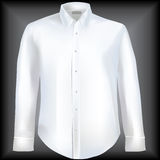 Formal shirt with button down collar stock illustration