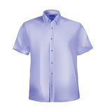 Formal shirt with button down collar. And half sleeves Royalty Free Stock Image