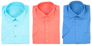 Formal shirts with short sleeves   Isolated Royalty Free Stock Photos