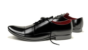 Formal shoes. Computer rendered illustration of formal shoes Stock Image