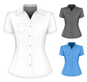 Formal short sleeved blouses for lady. Royalty Free Stock Image