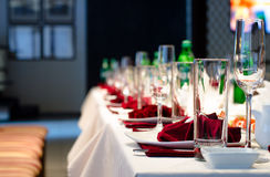 Formal stylish setting on a dinner table Royalty Free Stock Photo