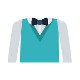 Formal suit with bowtie and long sleeves. Vector illustration Stock Image