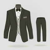 Formal suit for men. Formal suit or tuxedo with bow tie Royalty Free Stock Image