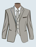 Formal suit for men. Formal suit or tuxedo with tie Royalty Free Stock Photos