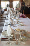 Formal Table Setting Stock Photo