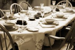 Formal Table Setting at Home Stock Image