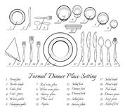 Formal table setting Stock Images