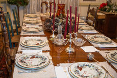 Formal Table at Thanksgiving Royalty Free Stock Photos