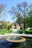 Formal traditional  English garden with fountain Stock Image