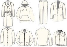 Formal wear. And winter clothing vector illustration